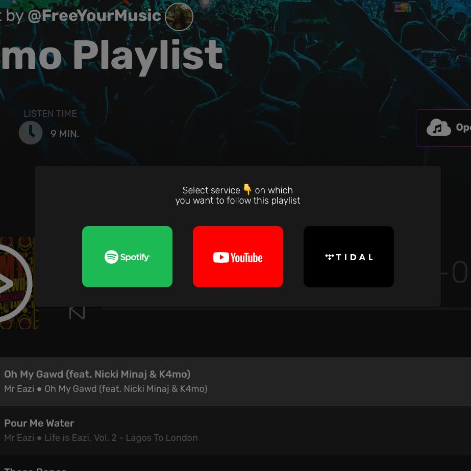Break the barriers and get the same playlist across multiple platforms at once.