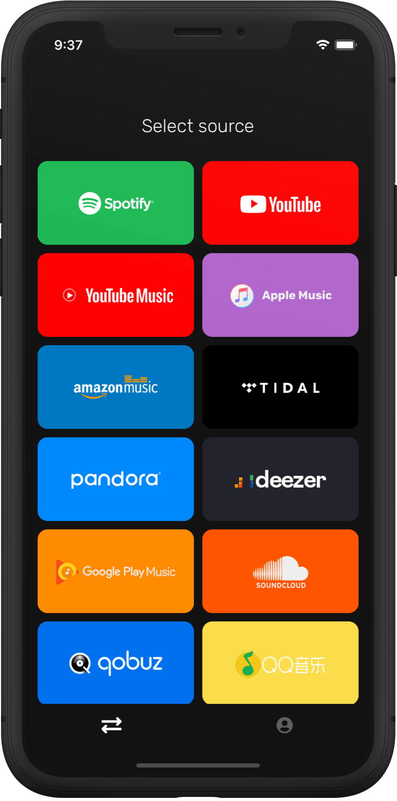 Step 1: Select Google Play Music as a source